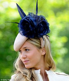 OK, not royal but at the Royal Ascot with a cool hat (former 'flame' of Harry's)