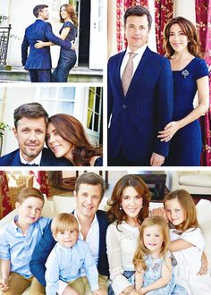 princessphines:   In connection with the 10th wedding anniversary of Crown Prince Frederik and Crown Princess Mary new photos of the couple and one family photo have been released.