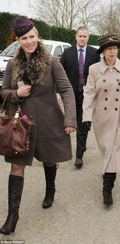 HRH Princess Anne, The Princess Royal and daughter Zara Tindall attend Ladies' day at the Cheltenham Festival 3/12/14
