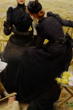 Conversation in the Jardin du Luxembourg by Vittorio Matteo Corcos, 1892