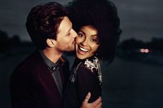 This is one cute interracial couple! interracialeroticabooks.com #interraciallove #interracialkiss #bwwm