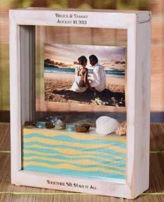 Love Birds Shadow Box Sand Ceremony Set 2 Sizes And 6 Colors