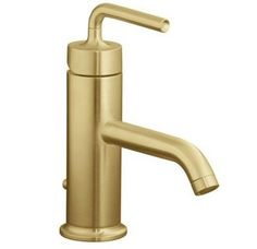 Kohler K-14402-4A Purist Single Hole Bathroom Faucet - Free Metal Pop-Up Drain Assembly with purchase Image