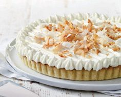 Coconut Cream Pie Yummy Treats, Delicious Desserts, Yummy Food, Toasted Coconut, Coconut Cream, Tart Shells, Pastry Blender, Sweet Pastries, Crust Recipe