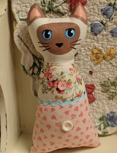 Ying the Siamese Cat Doll by That's My Cat, via Flickr