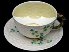 Use you Moustache Cup Belleek Shamrock Moustache cup in the morning...before that first cup of tea.