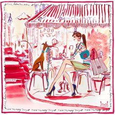 Henri Bendel Cafe Girl Scarf ($125) ❤ liked on Polyvore