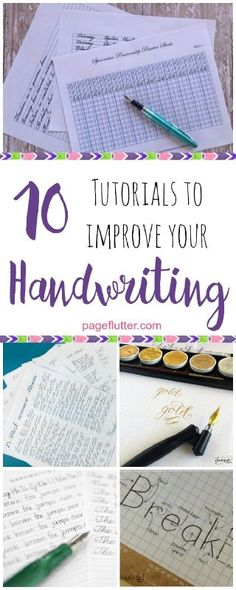 Spread the word! 10 Handwriting Tutorials for Your Journal | Handwriting is super hot in the Bullet Journal community. The digital world may have us typing away most of the day, but we still ...