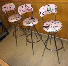 Retro Re-vamped Cosco Barstools