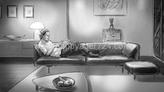 Storyboard, Gerhard, Illustrator, Layout, Couch, Furniture, Home Decor, Settee, Decoration Home