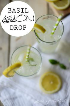 Cocktails for a Crowd: 12 Pitcher Drinks for Your Next Party 10 Basil Drinks, Basil Cocktail, Cocktail Drinks, Cocktail Recipes, Lemon Drop Martini, Lemon Basil Martini Recipe, Limoncello Martini, Pitcher Drinks, Slimming Recipes