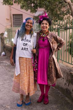 Bahiana and Denise, Santa Teresa, Rio de Janeiro - Advanced Style Ari Seth Cohen, Santa Teresa, Advanced Style, Senior Prom, Love Her Style, Aging Gracefully, Real Beauty, Older Women, Harajuku