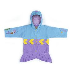Irresistible and eye-catching, these stylish, upscale coats are the core of a Kidorable ensemble. Mermaid all-weather raincoat for your little girl. It is more than just a raincoat, it can be worn every day, all spring, summer and fall. Featuring an encha
