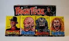 Fright Flicks Horror Trading Cards/Stickers made by WonderlandToys from the 1980s