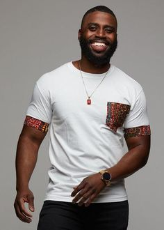 Modern African Clothing for Men! Shop our full selection of men's dashikis, African print bow ties, and African print tops. Modern African Clothing, African Print Clothing, African Men Fashion, African Print Shirt, Mens Fashion, Mens Modern Clothing, Ankara Fashion, African Prints, Fashion Hats