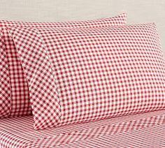 New Bedding, Duvet Covers & Bed Sheets Best Sheet Sets, Best Sheets, Custom Pillows, Decorative Pillows, Designer Bed Sheets, Red Gingham, Gingham Check, Black Bed Linen, Cushion Cover Designs