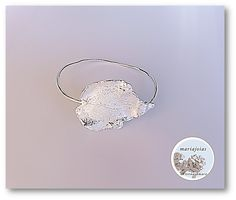 Leaf bracelet in silver by Mariajóias Cristina Amaro https://www.facebook.com/pages/Mariajoias-Cristina-Amaro/617451391649626