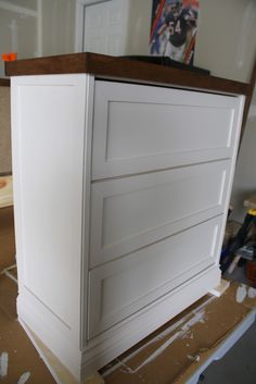 Do you want to turn this...into this?          Rast dressers from IKEA are pretty boring on t...
