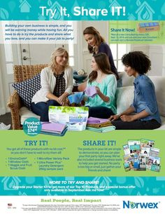 Start your own Norwex business for the low cost of shipping and handling and no sales obligation! Or simply take advantage of the 35% discount to buy our awesome products for yourself and your friends. Ask me how! www.marleahwiersma.norwex.biz