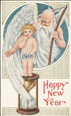 Antique 1919 Happy New Year postcard Vintage Happy New Year, Happy New Year 2014, Holiday Postcards, Vintage Postcards, Vintage Images, Vintage Designs, Christmas Gift Tags, Vintage Christmas, Victorian Christmas