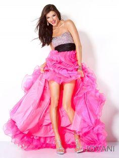 #Jovani 30079 Hot Pink Prom Dress, High low prom dress, #InternationalProm #Prom #Promdress #Prom360