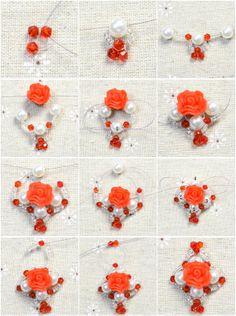 make a beaded flower