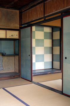 Inside the Shokin-tei, Katsura Rikyu