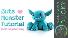MAKE A CUTE MONSTER diy tutorial from polymer clay - ポリマークレイ ; 폴리머 클레이