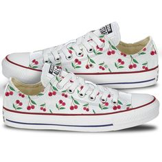 Cherry Pattern Converse Print Chuck Taylors from Tready Shoes. Shop more  products from Tready Shoes on Wanelo. b95445dd3