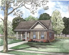 House Plan 62326 | Plan with 1263 Sq. Ft., 3 Bedrooms, 2 Bathrooms, 2 Car Garage