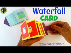 "Craft tutorial to make a Paper ""Waterfall Greetings card"" - YouTube"