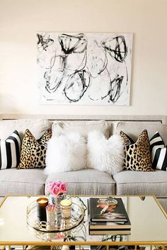 Decor Mistakes And Their Solutions Cream Walls Animal Print Pillows
