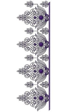 Hand Quilting Designs Borders Ideas For 2019 Saree Embroidery Design, Border Embroidery Designs, Hand Work Embroidery, Embroidery Motifs, Ribbon Embroidery, Machine Embroidery Designs, Boarder Designs, Hand Quilting Designs, Lace Design