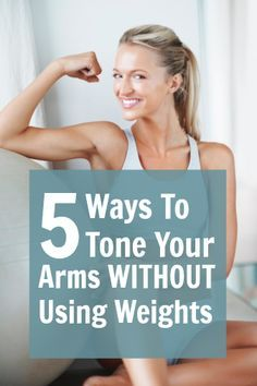 I love mini workouts! Arm toning without weights!