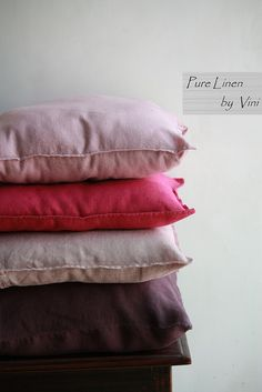 Pure Linen by Vini | Solid Linen Stone Washed Pillows