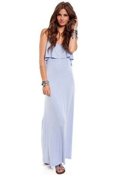 dresses-skirts periwinkle-maxi-front-ruffle