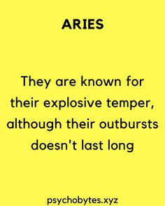 Psychological facts about Aries