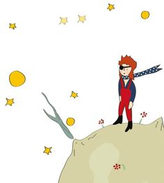 Bowie as The Little Prince by Jen Lewis  @thisjenlewis