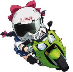 カテゴリイメージ Anime Motorcycle, Motorcycle Images, Motorcycle Logo, Stunt Bike, Motorbike Design, Cartoon Styles, Chibi Girl, Cars And Motorcycles, Motorbikes