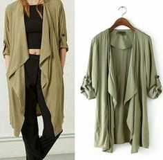 Army colour cardigan