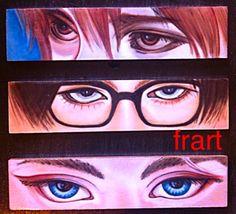 Occhi Trittico realizzato con acrilico su legno Aerografia Frart 2016