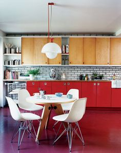 Shop the Room: A Bold Red Retro Kitchen via @MyDomaine