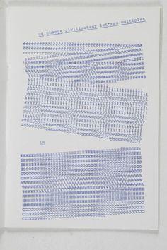 Graphèmes en vibrance, Henri Chopin, 1990
