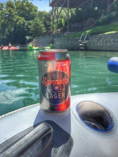 Just a floatin' and a sippin'!! | Karbach: Sympathy for the Lager | Comal River