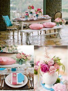 Romantik und Vintage Rose Hochzeit Dekoration Ideen!