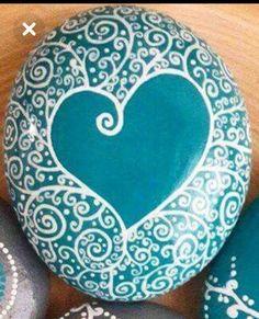 Mandala Painting, Pebble Painting, Dot Painting, Pebble Art, Stone Painting, Pebble Stone, Stone Art, Drawing Rocks, Painted Rocks