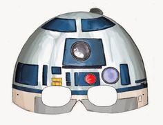 Estas máscaras te pueden servir para dar a las invitados a una Fiesta de Star Wars o Guerra de las Galaxias...