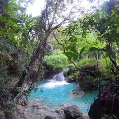 "Ell Samsuri (@ellsamsuri) added a photo to their Instagram account: ""Blue River Waterfall #travel #travellovers #travelblogger #travelphotography #travelgram #travellog…"" Kawasan Falls, Travel Log, Philippines, Tourism, Waterfall, Travel Photography, Photo Editing, Beautiful Places, Scenery"