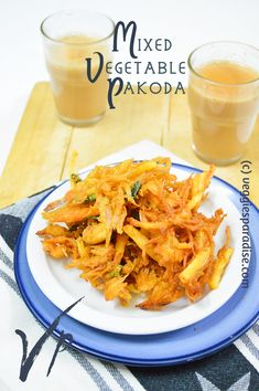 PAKORA RECIPE | PAKODA RECIPE - Hello Friends, Today I am sharing a scrumptious recipe, Crispy pakoras made with vegetables, when served with a hot cup of cardamom ginger tea will definitely turn out to be a super hit. Regardless of age, this snack is relished by all, at any time of the year. Mixed Vegetables, Veggies, Vegetable Pakora, Pakora Recipes, Ginger Tea, Recipe Mix, Paradise, Age, Snacks
