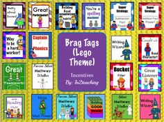 Lego Themed Brag Tags! My students will love these!